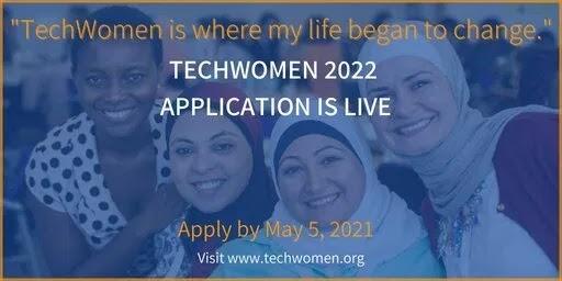 100+ bourses d'études du Programme TechWomen du gouvernement américain 2021 pour les femmes dans les domaines des STEM